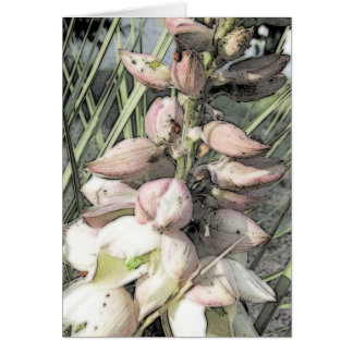 Yucca Blooms and Ladybugs Art Card