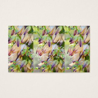 yucca flowers customized business card