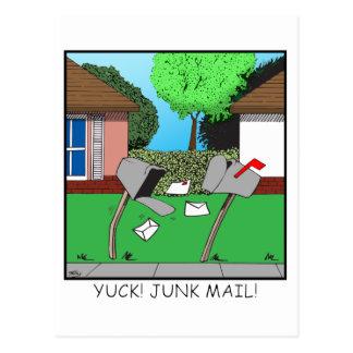 YUCK! JUNK FOOD! POSTCARD