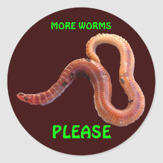 Yucky Worm Sticker
