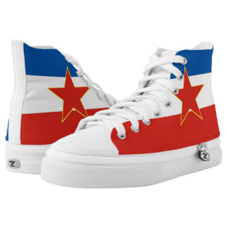 yugoslavia country flag symbol nation printed shoes
