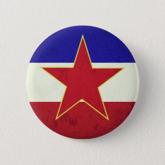 Yugoslavia flag 6 cm round badge