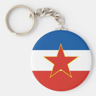 yugoslavia flag key ring