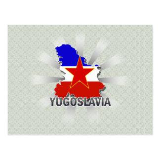 Yugoslavia Flag Map 2.0 Postcard