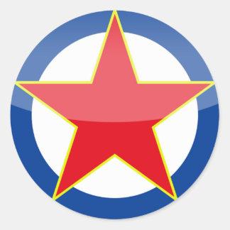 Yugoslavia - retro classic round sticker