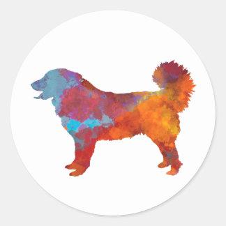 Yugoslavian Shepherd DOG in watercolor Round Sticker