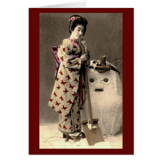 Yuki Daruma Holiday Card