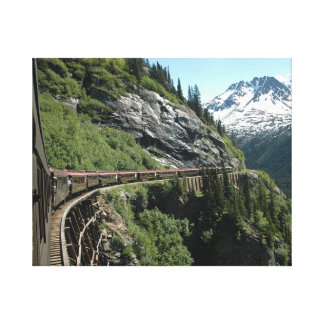 Yukon Alaska Railway Canvas Print