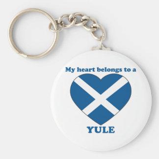 Yule Basic Round Button Key Ring