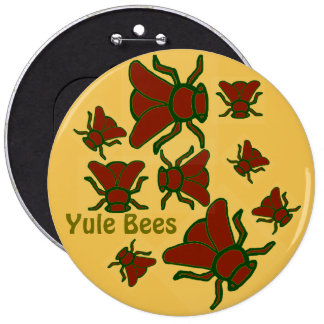 Yule Bees Holiday Button