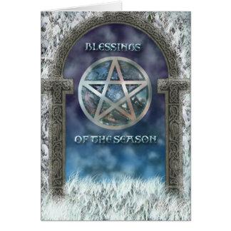 Yule Blessings Card