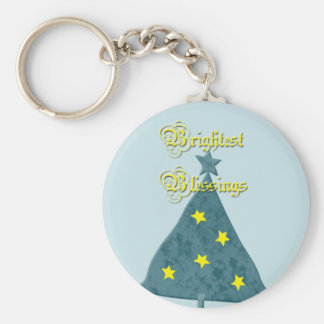 Yule Brightest Blessings Keychain
