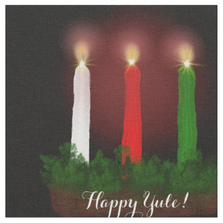 Yule Candles Winter Solstice Fabric