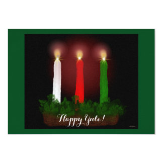 Yule Candles Winter Solstice Witch Wiccan Pagan 13 Cm X 18 Cm Invitation Card