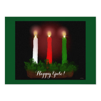 """Yule Candles Winter Solstice Witch Wiccan Pagan 6.5"""" X 8.75"""" Invitation Card"""