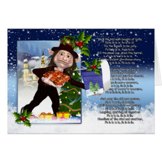 Yule Christmas Card - Deck The Halls With Boughs O