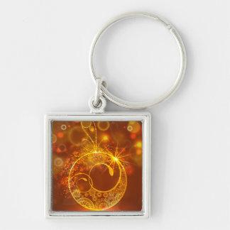 Yule Christmas Moon Ornament Keychains