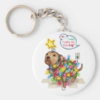 Yule Dog Keychain