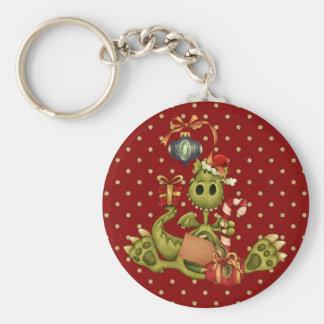 Yule Dragon Basic Round Button Key Ring