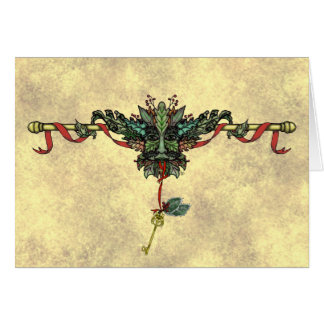 """Yule Greenman"" Greeting Card"