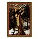 Yule Holly Goddess Card