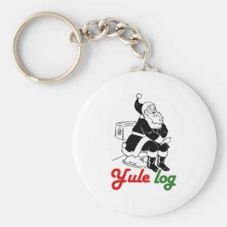 YULE LOG -.png Keychains
