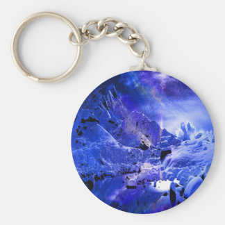 Yule Night Dreams Basic Round Button Key Ring