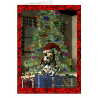 Yule Puppy Greeting Card