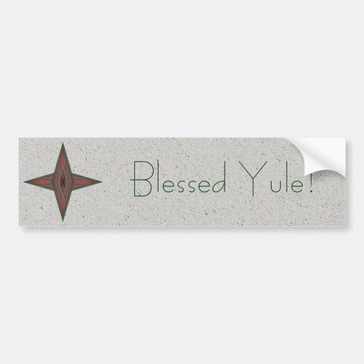 Yule Star Bumper Stickers