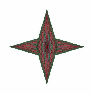 Yule Star Photo Sculpture Badge