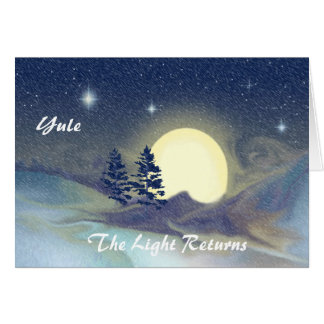 Yule-The Light Returns Greeting Card