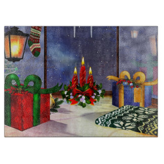 Yule Time Reflections Holiday Art Cutting Boards