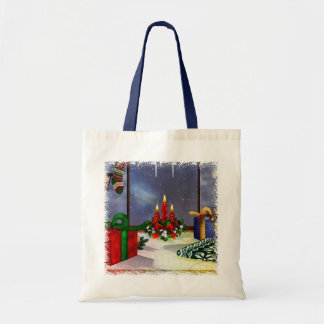 Yule Time Reflections Holiday Art GIFT Tote Bag