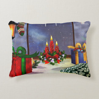 Yule Time Reflections HOLIDAY Accent Pillow