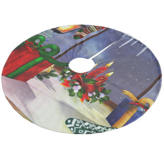 Yule Time Reflections HOLIDAY Fleece Tree Skirt