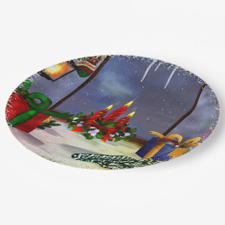 Yule Time Reflections HOLIDAY 9 Inch Paper Plate