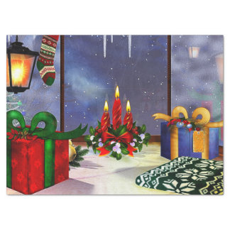 "Yule Time Reflections HOLIDAY 17"" X 23"" Tissue Paper"