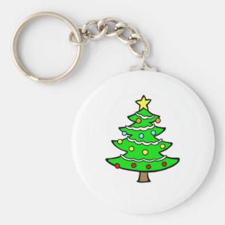 Yule tree key chains