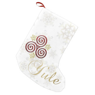 Yule Triple Spiral & Snowflakes - Holiday Stocking