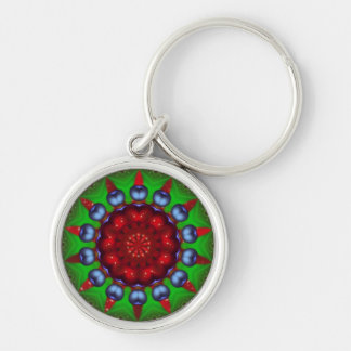 Yule Wheel Kaleidoscope Mandala Key Chain