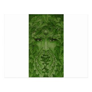 yuleking green postcard