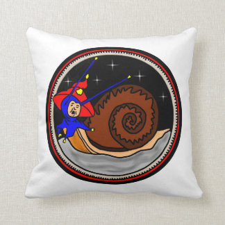 Yuletide Faerie Snail Throw Pillow