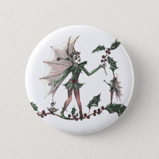 Yuletide Fairy Gifts for the Holiday 6 Cm Round Badge