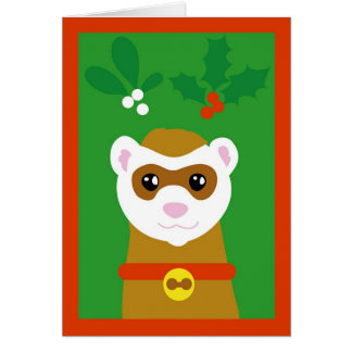 Yuletide ferret card