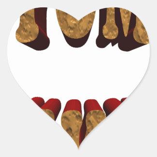 yum bikkies heart sticker