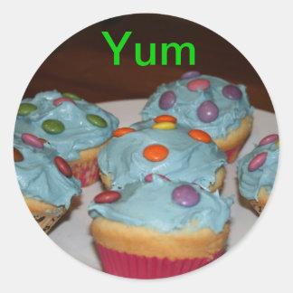 YUM cupcake sticker