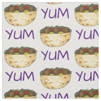 YUM Falafel Falafels Pita Food Sandwich Fabric