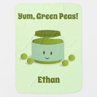 Yum Green Peas | Baby Blanket