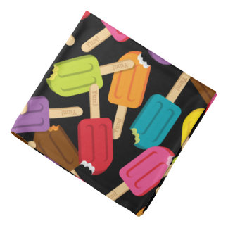 Yum! Popsicle Bandana — Black