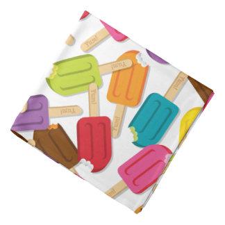 Yum! Popsicle Bandanna — White